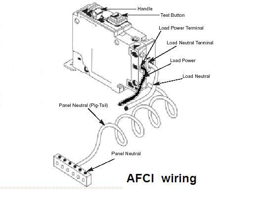 arc fault circuit interrupter rh iasa com au wiring arc fault breaker diagram wiring diagram for arc fault breakers