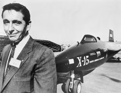 X 15 Crash Test pilot Scott Crossfield was the first pilot of the X-15 and in ...