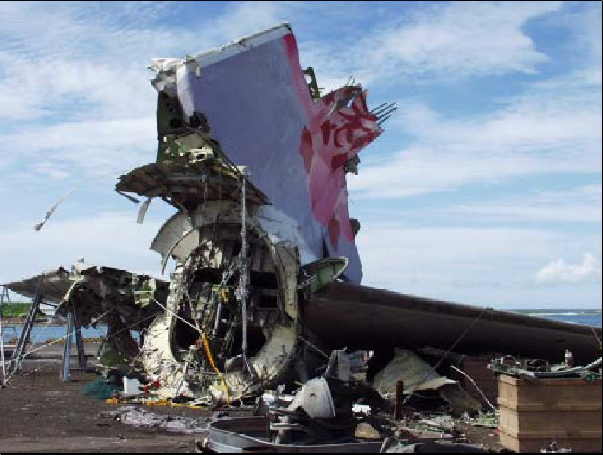 China Airlines 747 Crash Imagery